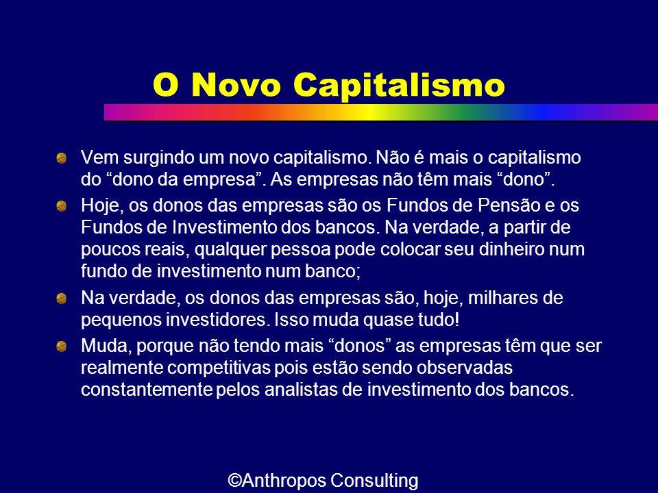 """O Novo Capitalismo Vem surgindo um novo capitalismo. Não é mais o capitalismo do """"dono da empresa"""". As empresas não têm mais """"dono"""". Hoje, os donos da"""
