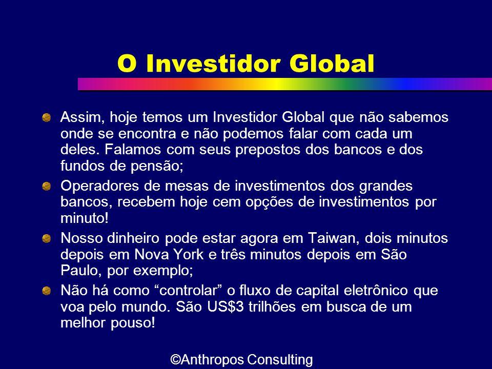 O Investidor Global Assim, hoje temos um Investidor Global que não sabemos onde se encontra e não podemos falar com cada um deles. Falamos com seus pr
