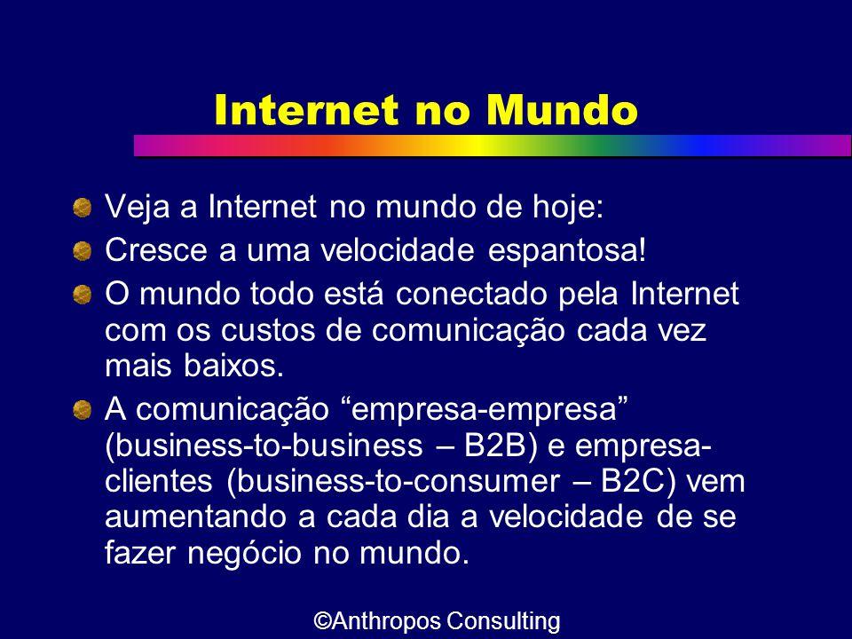 Internet no Mundo Veja a Internet no mundo de hoje: Cresce a uma velocidade espantosa! O mundo todo está conectado pela Internet com os custos de comu