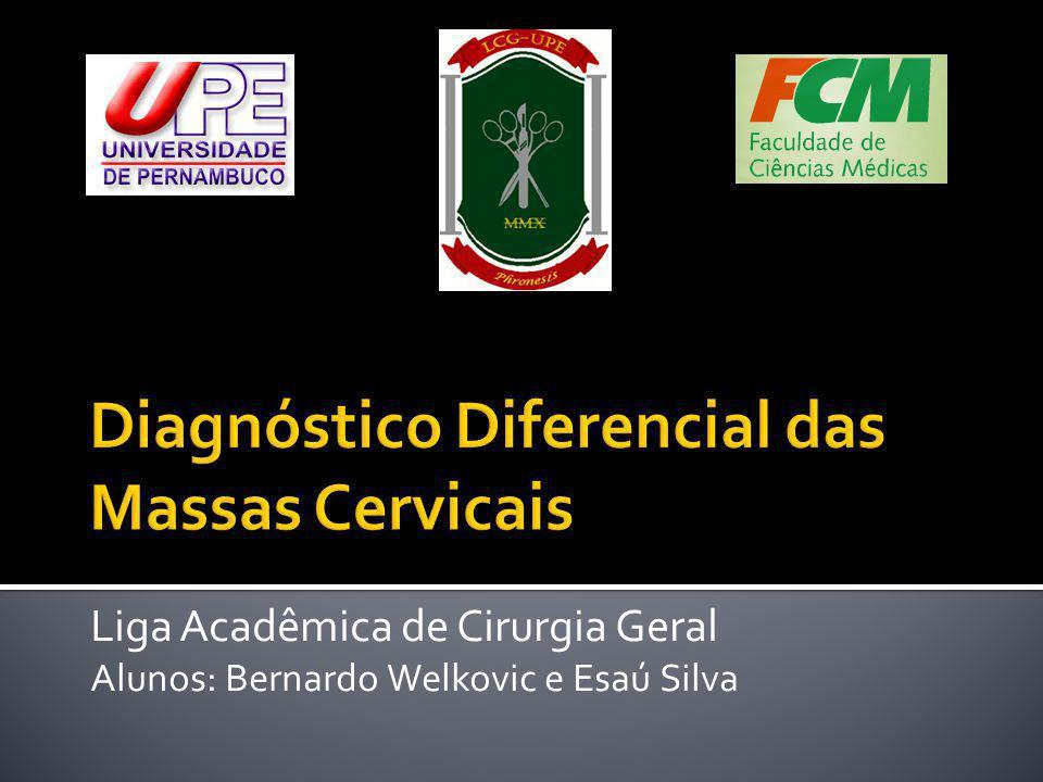 Liga Acadêmica de Cirurgia Geral Alunos: Bernardo Welkovic e Esaú Silva