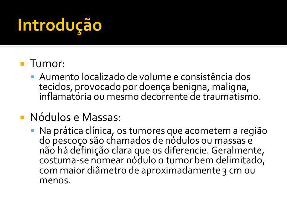  Tumor:  Aumento localizado de volume e consistência dos tecidos, provocado por doença benigna, maligna, inflamatória ou mesmo decorrente de traumat