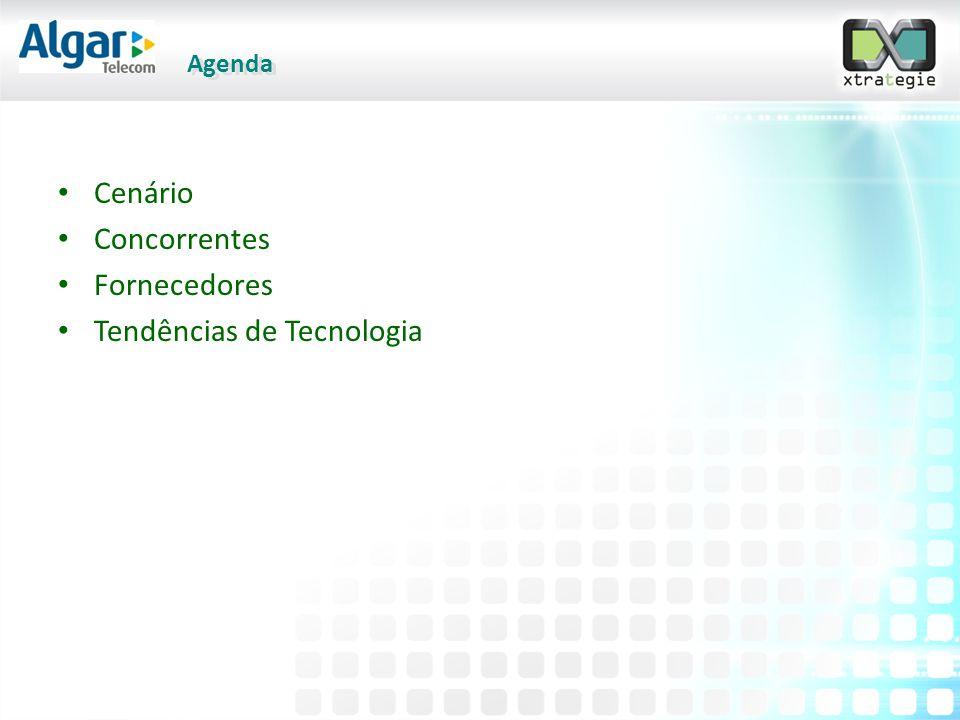 Agenda • Cenário • Concorrentes • Fornecedores • Tendências de Tecnologia