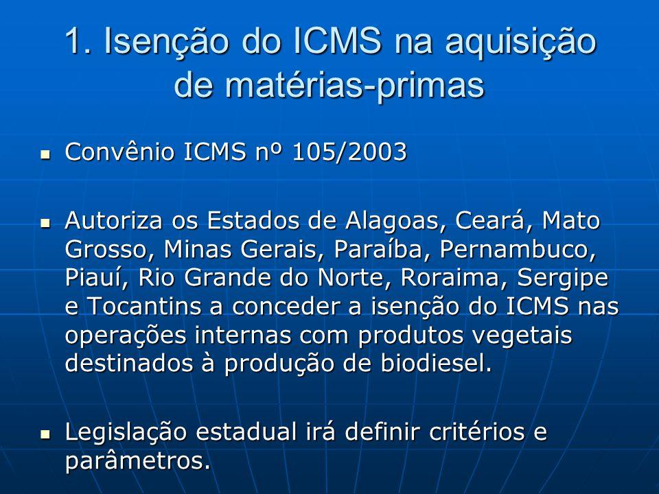  Convênio ICMS nº 105/2003  Autoriza os Estados de Alagoas, Ceará, Mato Grosso, Minas Gerais, Paraíba, Pernambuco, Piauí, Rio Grande do Norte, Rorai