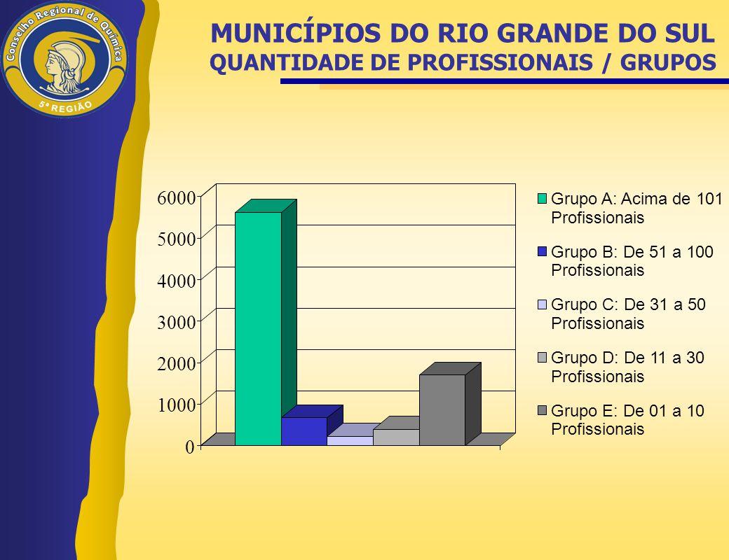 0 1000 2000 3000 4000 5000 6000 Grupo A: Acima de 101 Profissionais Grupo B: De 51 a 100 Profissionais Grupo C: De 31 a 50 Profissionais Grupo D: De 1