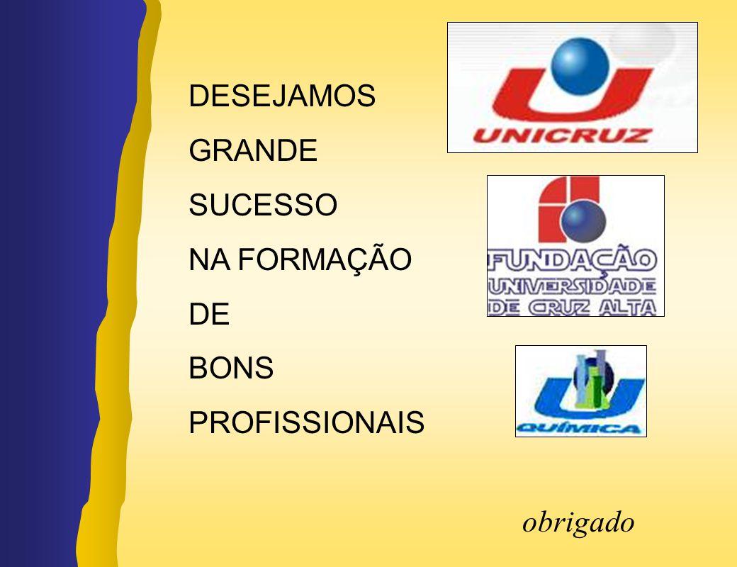 obrigado DESEJAMOS GRANDE SUCESSO NA FORMAÇÃO DE BONS PROFISSIONAIS