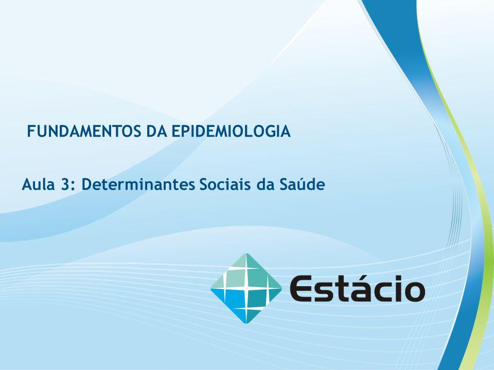 FUNDAMENTOS DA EPIDEMIOLOGIA Aula 3: Determinantes Sociais da Saúde
