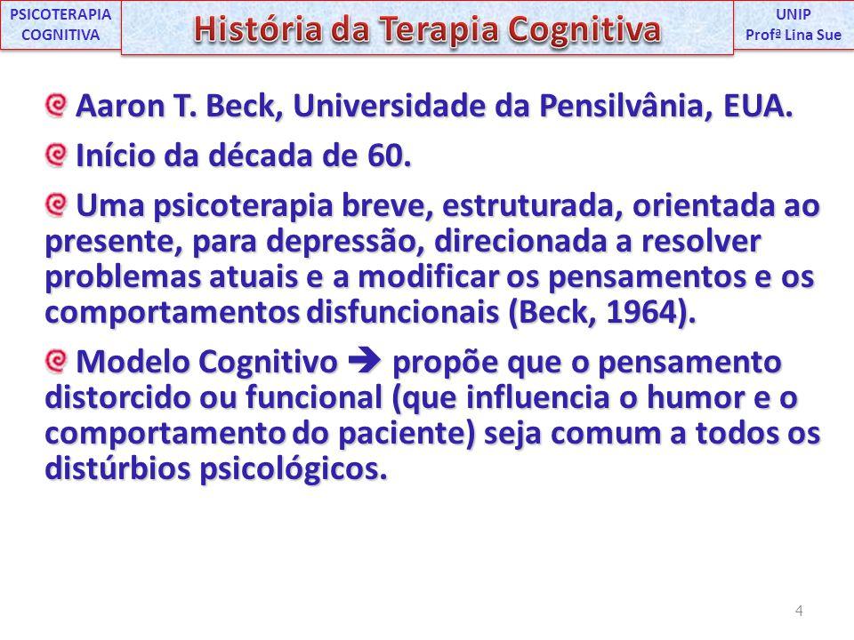 Aaron T. Beck, Universidade da Pensilvânia, EUA. Aaron T. Beck, Universidade da Pensilvânia, EUA. Início da década de 60. Início da década de 60. Uma