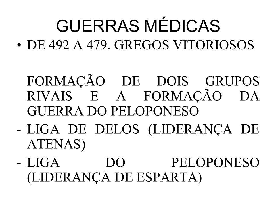 GUERRAS MÉDICAS •DE 492 A 479.