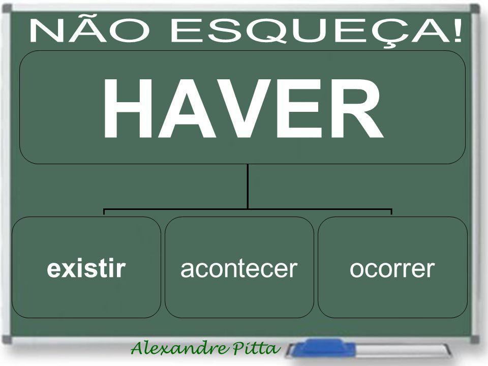 Alexandre Pitta existiracontecerocorrer HAVER