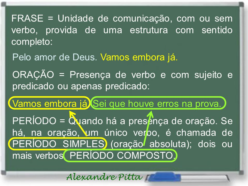 Alexandre Pitta SINGULAR SUJEITO INEXISTENTE VERBO TRANSITIVO DIRETO HAVER