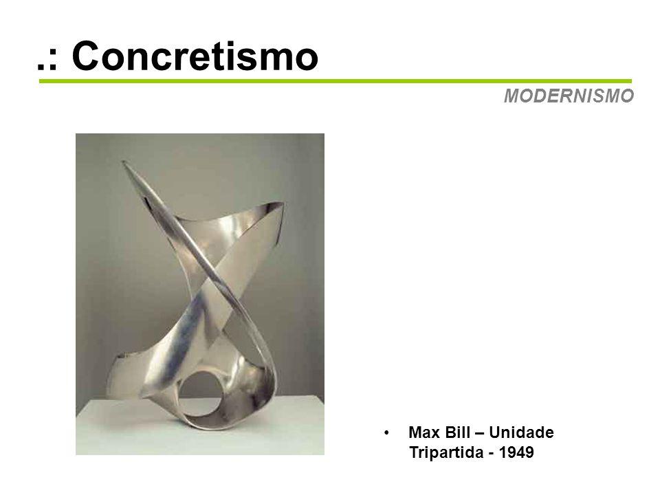 .: Concretismo MODERNISMO Grupo Ruptura O ano de 1952 e a exposição do Grupo Ruptura marcam o início oficial do movimento concreto em São Paulo.