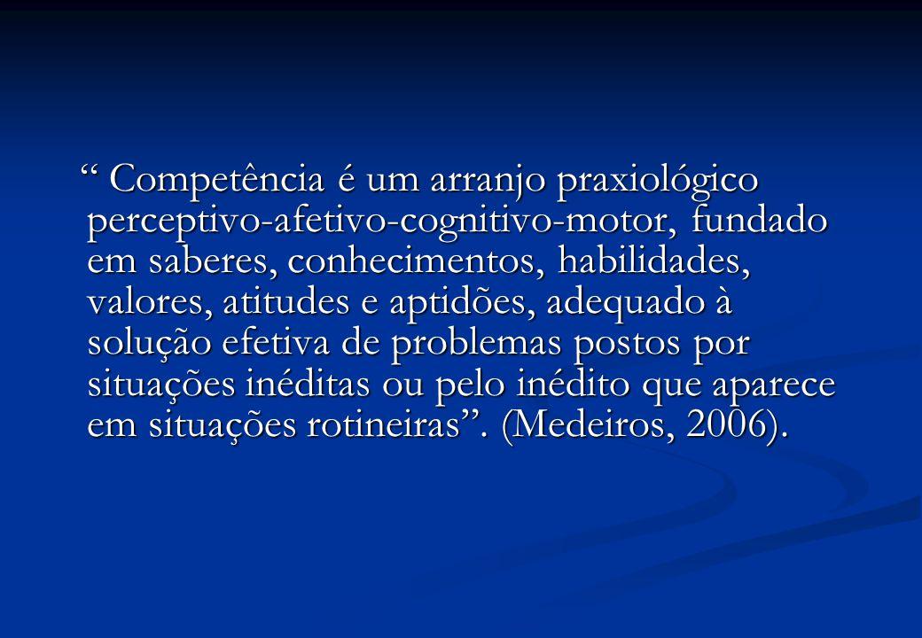  A competência deve ser interpretada em função das necessidades da formação profissional e/ou do modelo de gestão adotado pela organização.