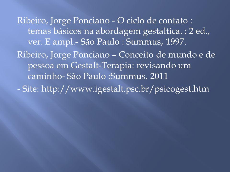 Ribeiro, Jorge Ponciano - O ciclo de contato : temas básicos na abordagem gestaltica.