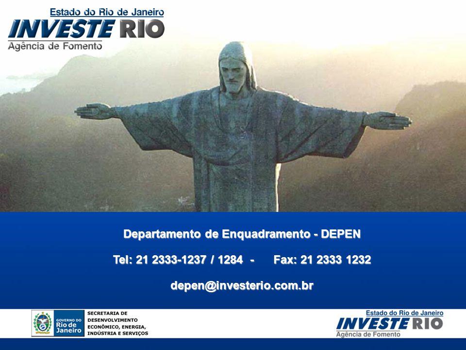 Departamento de Enquadramento - DEPEN Tel: 21 2333-1237 / 1284- Fax: 21 2333 1232 depen@investerio.com.br