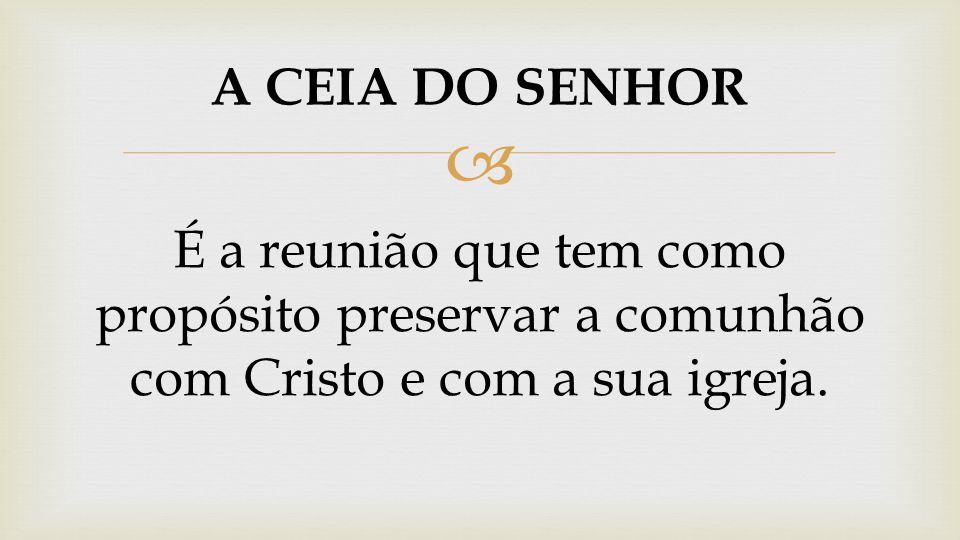  É A PRIMEIRA EXPERIÊNCIA TERAPÊUTICA NA IGREJA DE CRISTO PRIMEIRA COMUNHÃO