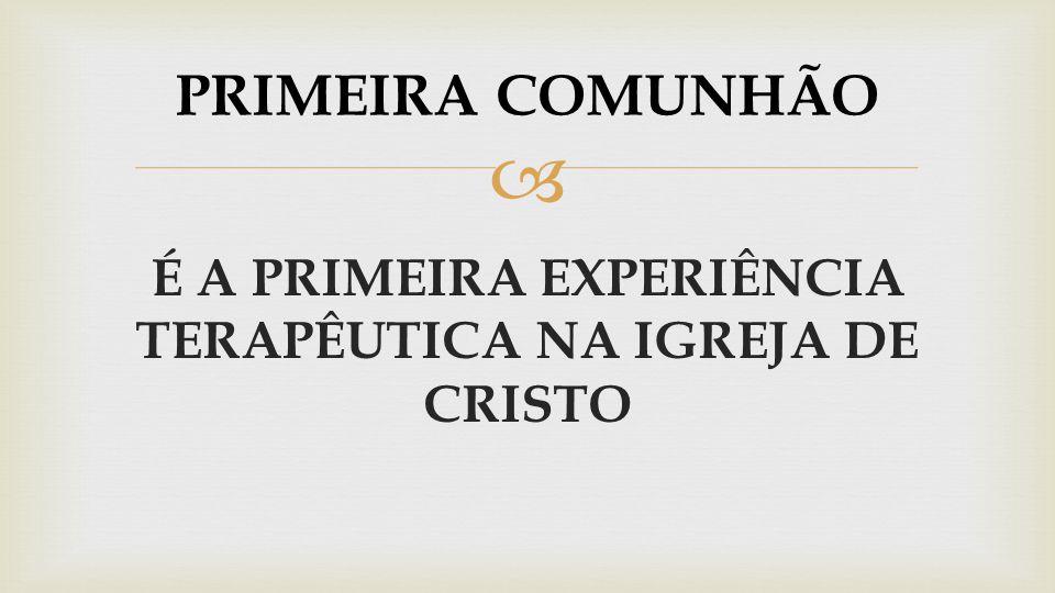 A PRIMEIRA COMUNHÃO É PRECEDIDA POR UM ENCONTRO REAL COM CRISTO
