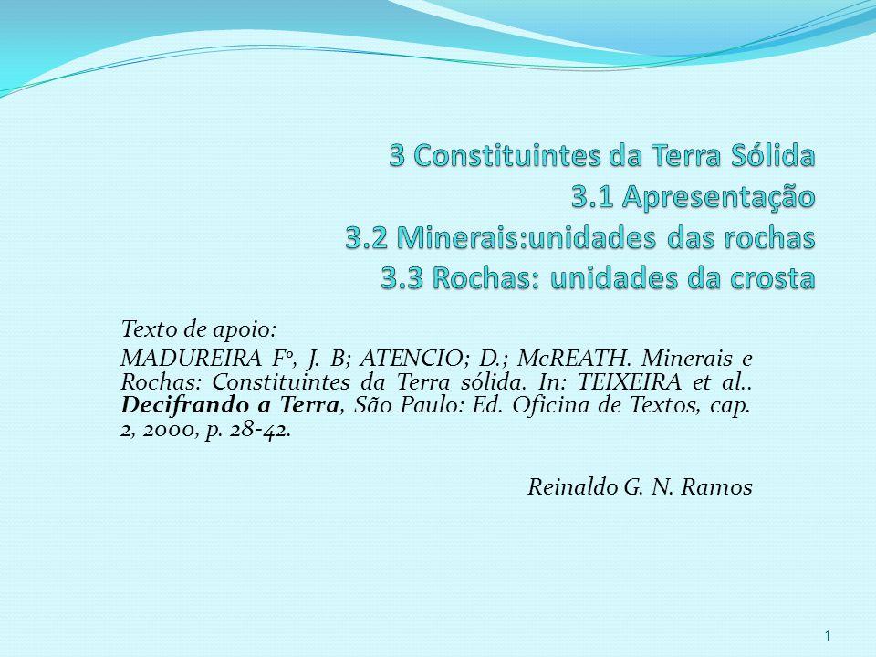 Texto de apoio: MADUREIRA Fº, J.B; ATENCIO; D.; McREATH.