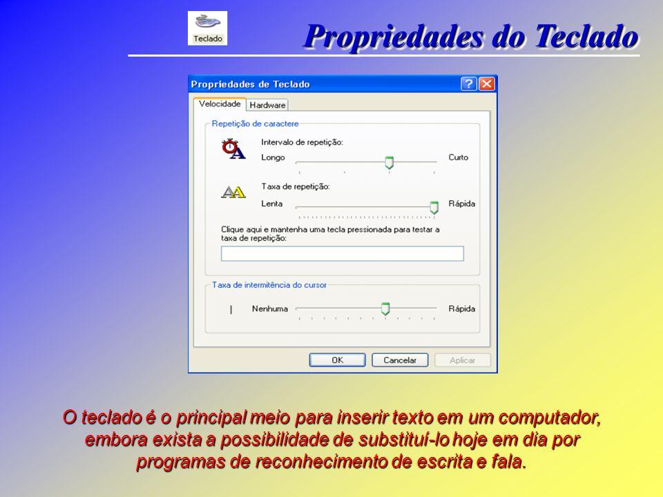 O teclado é o principal meio para inserir texto em um computador, embora exista a possibilidade de substituí-lo hoje em dia por programas de reconhecimento de escrita e fala.