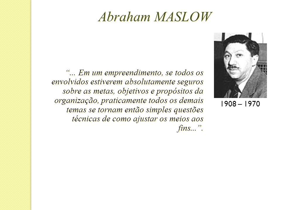 Abraham MASLOW 1908 – 1970 ...