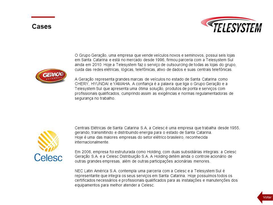 Cases O Grupo Geração, uma empresa que vende veículos novos e seminovos, possui seis lojas em Santa Catarina e está no mercado desde 1996, firmou parc