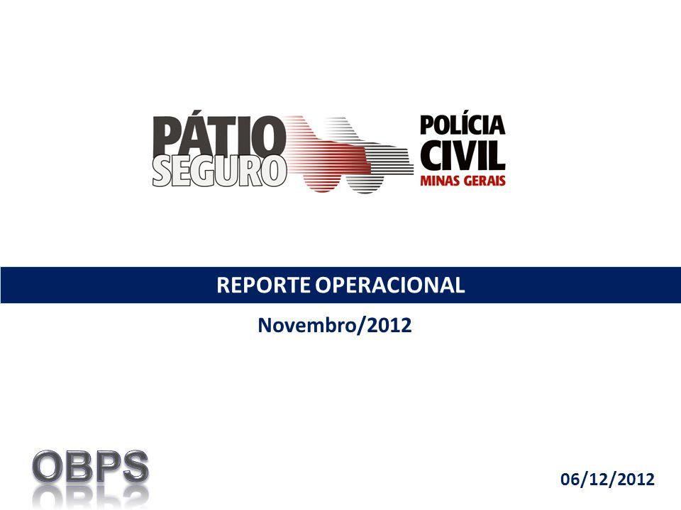 REPORTE OPERACIONAL Novembro/2012 06/12/2012