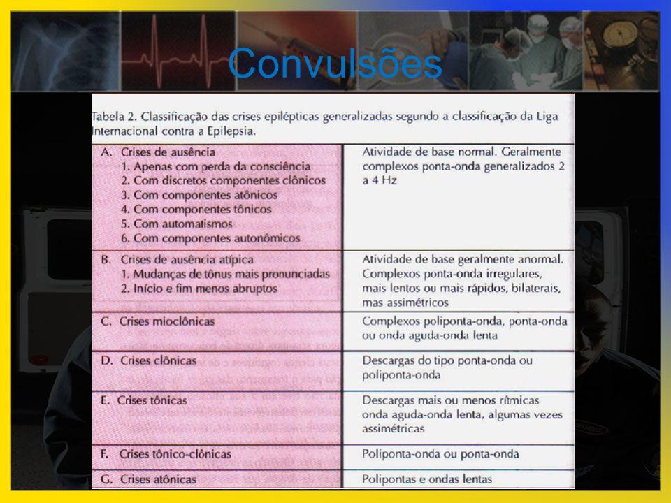 Outros exames  RX de tórax → detectar broncoaspiração  Gasometria arterial  TC de crânio → TCE  Coleta de LCR (infecções cerebromeningeas)
