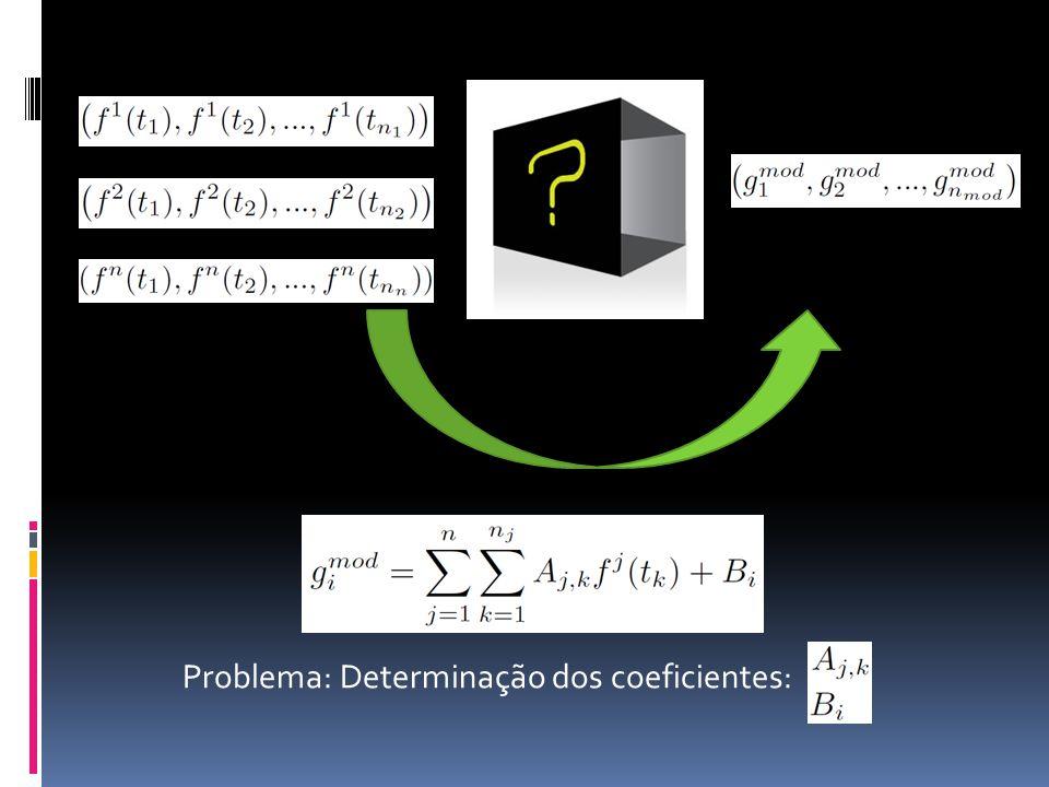 Problema: Determinação dos coeficientes: