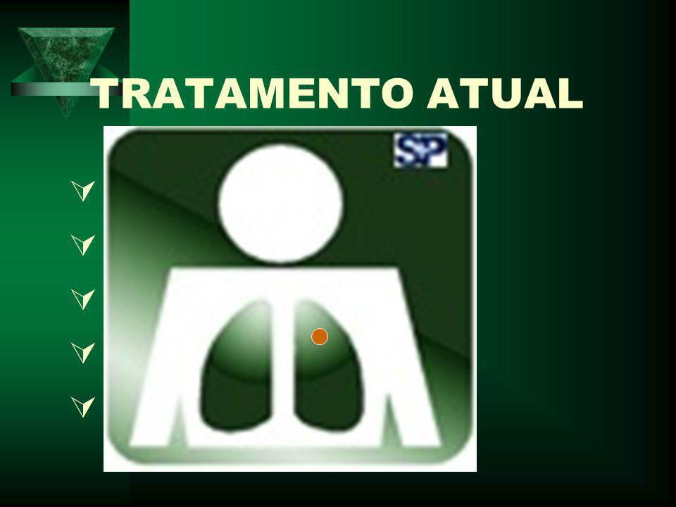 TRATAMENTO ATUAL  RIFAMPICINA  HIDRAZIDA  ETAMBUTOL  PIRAZINAMIDA  OUTROS