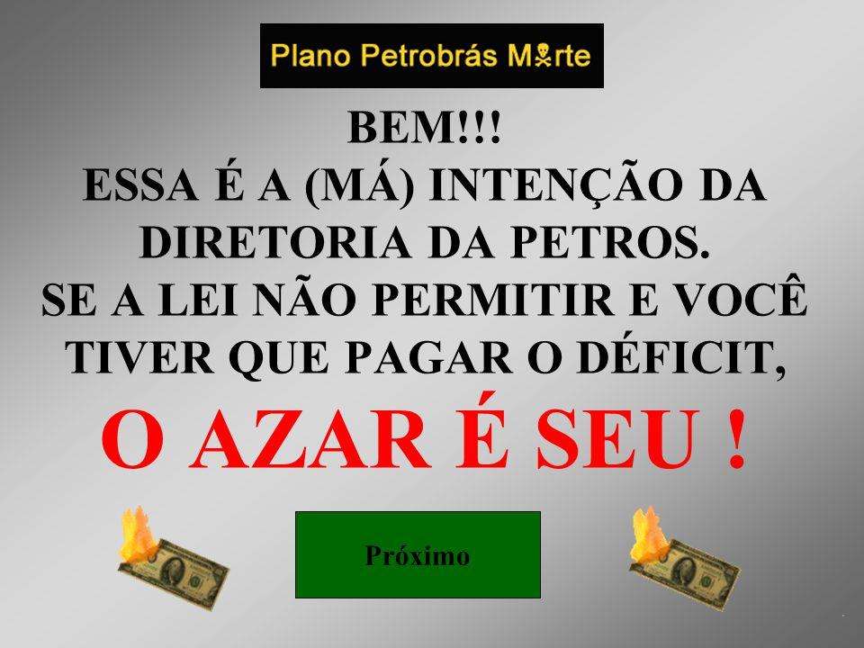 A Direção da Petros agradece à sua confiança Por isso garantimos a você que ninguém vai mexer no seu salário.