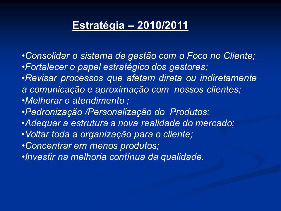 •Consolidar o sistema de gestão com o Foco no Cliente; •Fortalecer o papel estratégico dos gestores; •Revisar processos que afetam direta ou indiretam