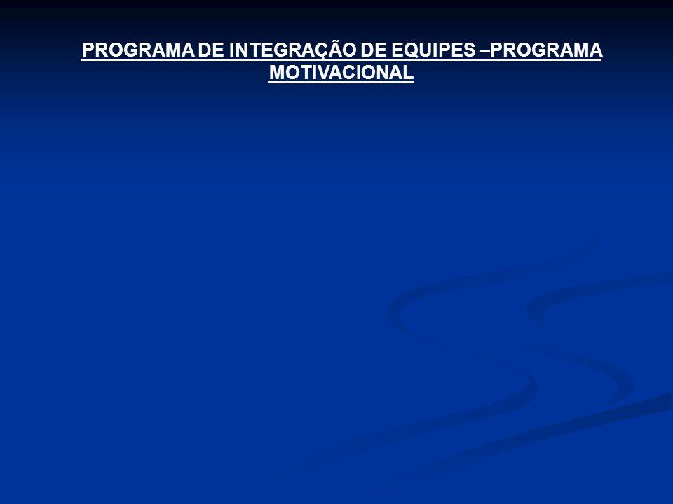 PROGRAMA DE INTEGRAÇÃO DE EQUIPES –PROGRAMA MOTIVACIONAL