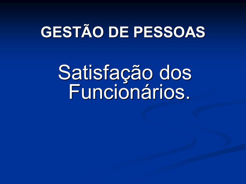 Satisfação dos Funcionários. GESTÃO DE PESSOAS