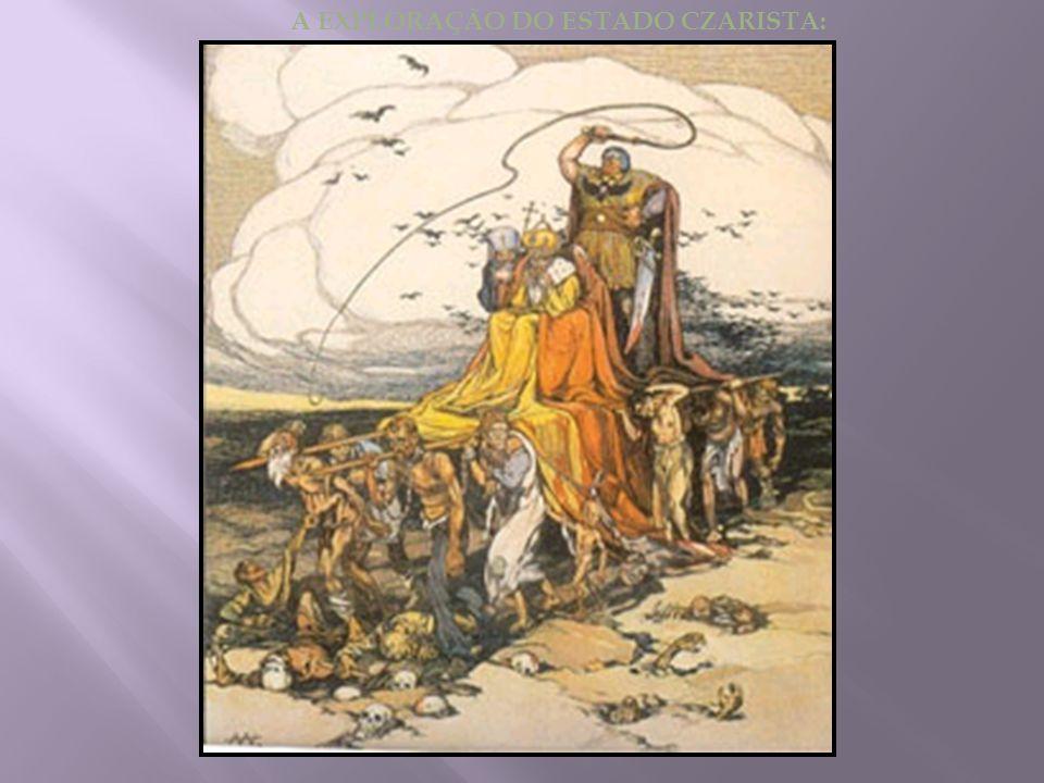  Precedentes:  Século XX – país atrasado  Economia predominantemente agrária  80% da população ainda vivia atrelada as relações feudais  A posse da terra estava concentrada nas mãos do clero e da aristocracia (boiardos = nobres proprietários).