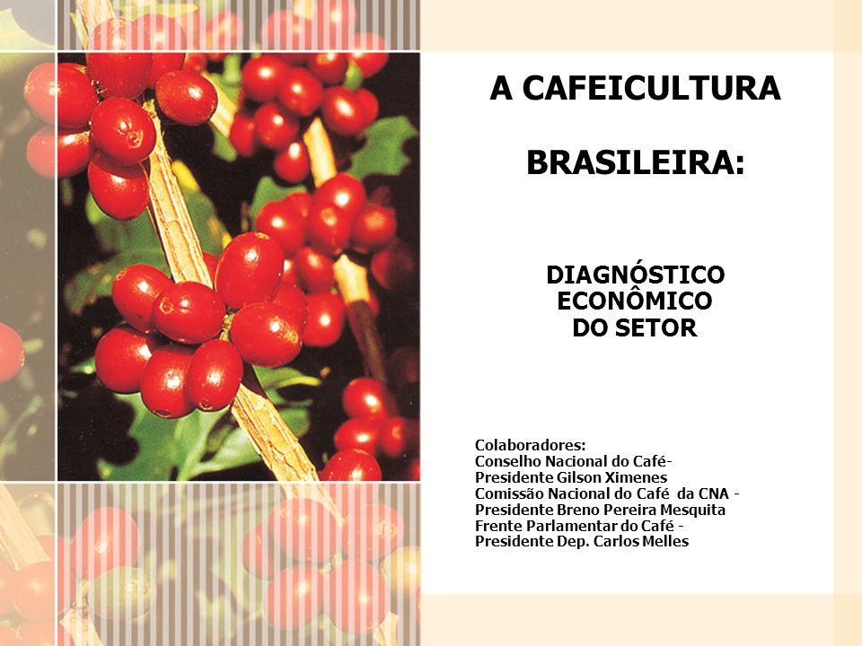 A CAFEICULTURA BRASILEIRA: DIAGNÓSTICO ECONÔMICO DO SETOR Colaboradores: Conselho Nacional do Café- Presidente Gilson Ximenes Comissão Nacional do Café da CNA - Presidente Breno Pereira Mesquita Frente Parlamentar do Café - Presidente Dep.