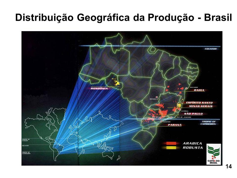 Distribuição Geográfica da Produção - Brasil 14