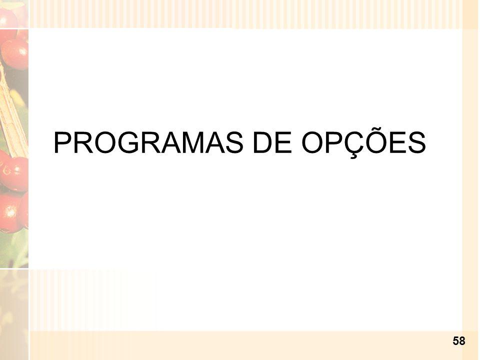 PROGRAMAS DE OPÇÕES 58