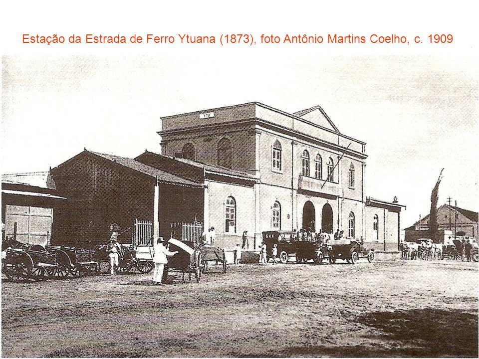 Estação da Estrada de Ferro Ytuana (1873), foto Antônio Martins Coelho, c. 1909