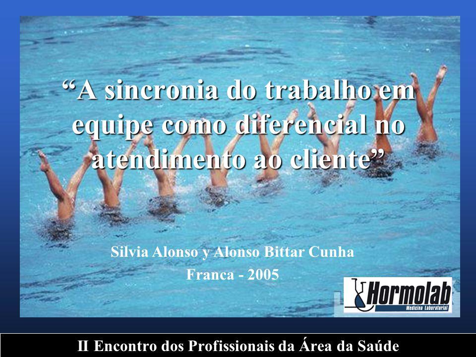 """""""A sincronia do trabalho em equipe como diferencial no atendimento ao cliente"""" II Encontro dos Profissionais da Área da Saúde Silvia Alonso y Alonso B"""