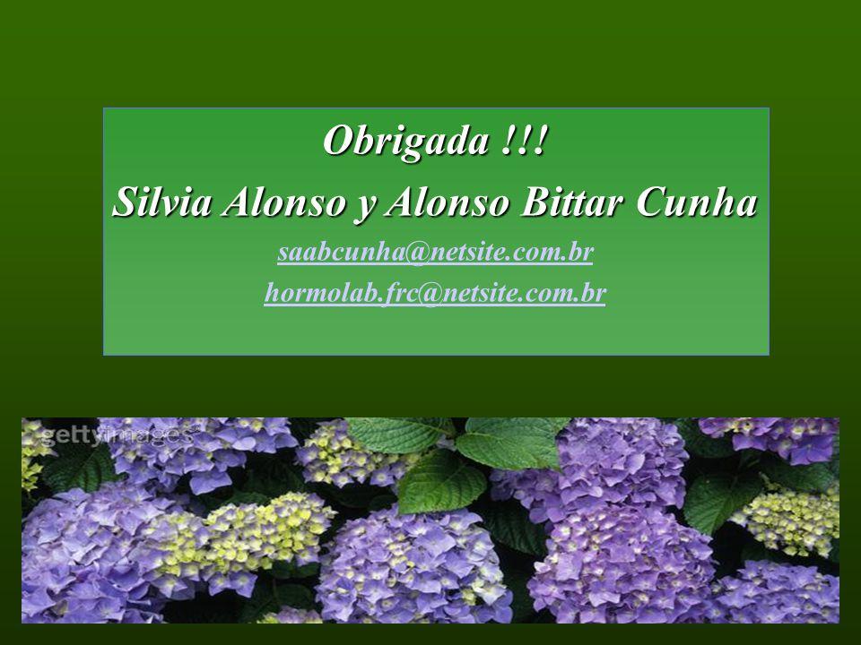 Obrigada !!! Silvia Alonso y Alonso Bittar Cunha saabcunha@netsite.com.br hormolab.frc@netsite.com.br
