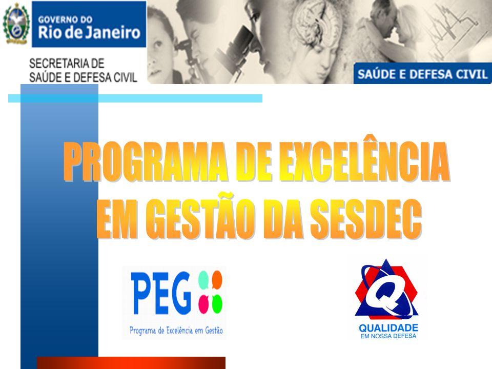 Demonstrativo em resumo sobre o GRUPO EXECUTIVO DO PROGRAMA DE EXCELÊNCIA GERENCIAL e o Programa de Excelência em Gestão da SESDEC