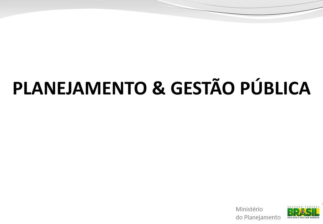Ministério do Planejamento PLANEJAMENTO & GESTÃO PÚBLICA