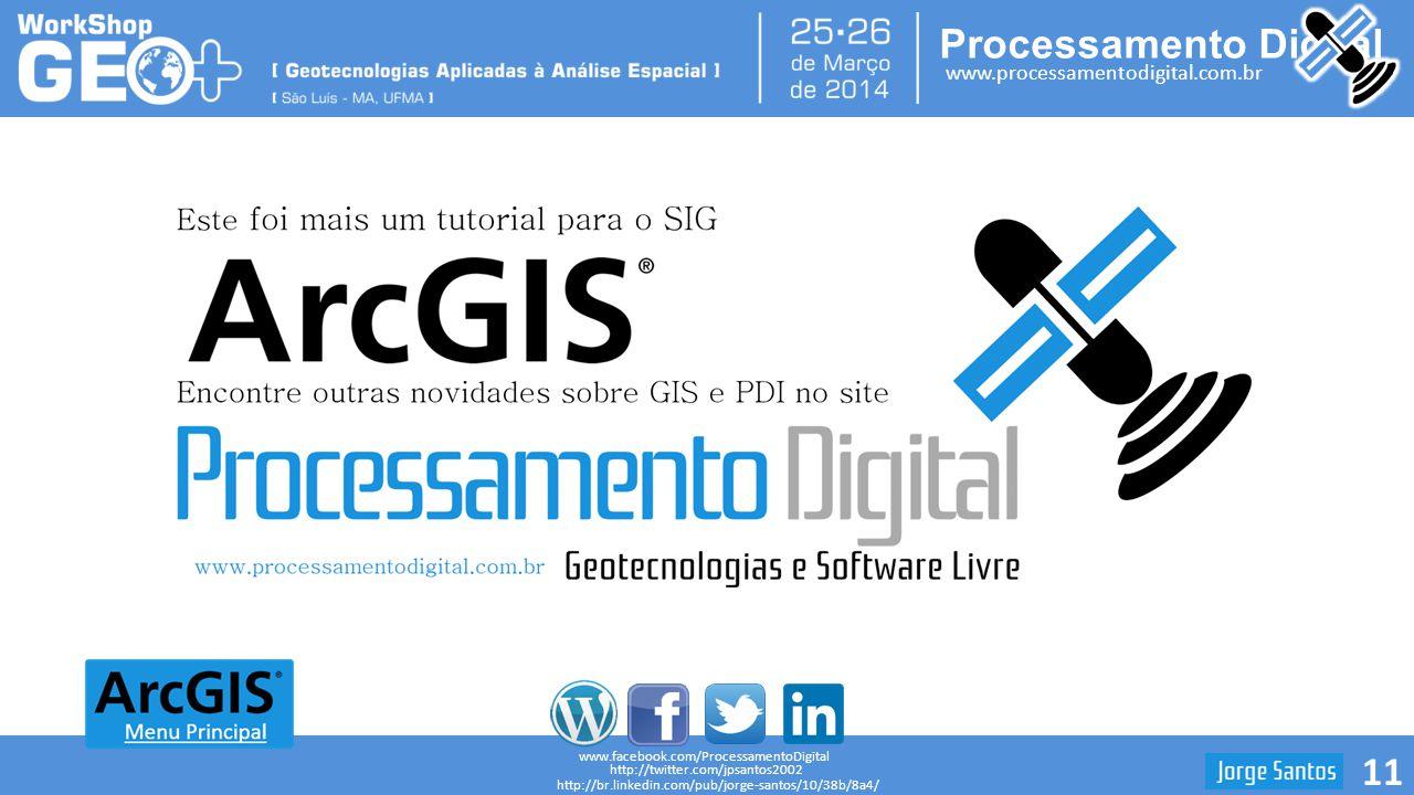 Processamento Digital www.processamentodigital.com.br ArcGIS 10.2: Calcular Distância entre Pontos 11 www.facebook.com/ProcessamentoDigital http://twi
