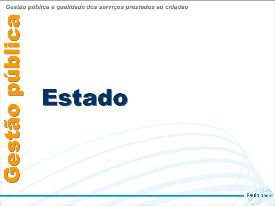 Administração Estado Gestão pública Gestão pública e qualidade dos serviços prestados ao cidadão