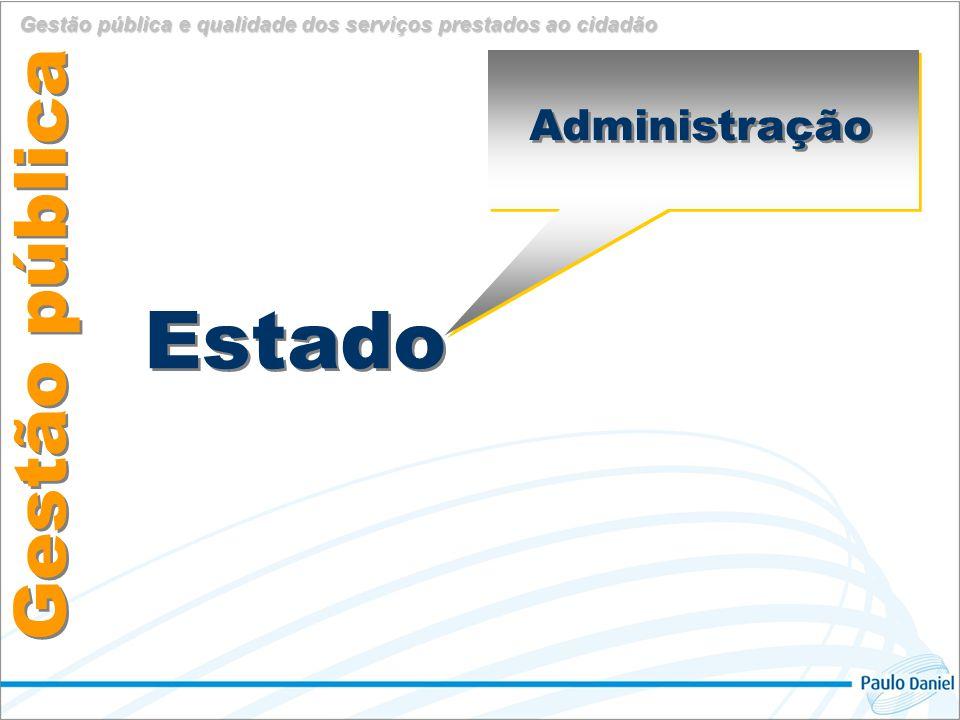 Administração Estado Governo Gestão pública Gestão pública e qualidade dos serviços prestados ao cidadão