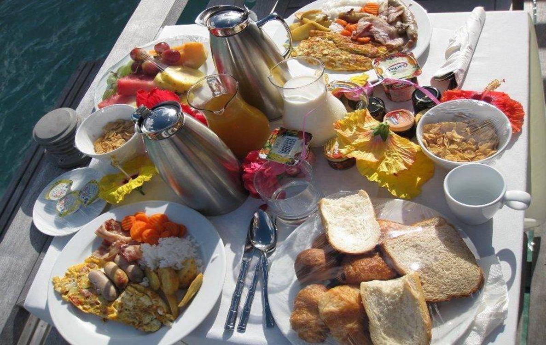Café da manhã chegando (pedido no dia anterior)