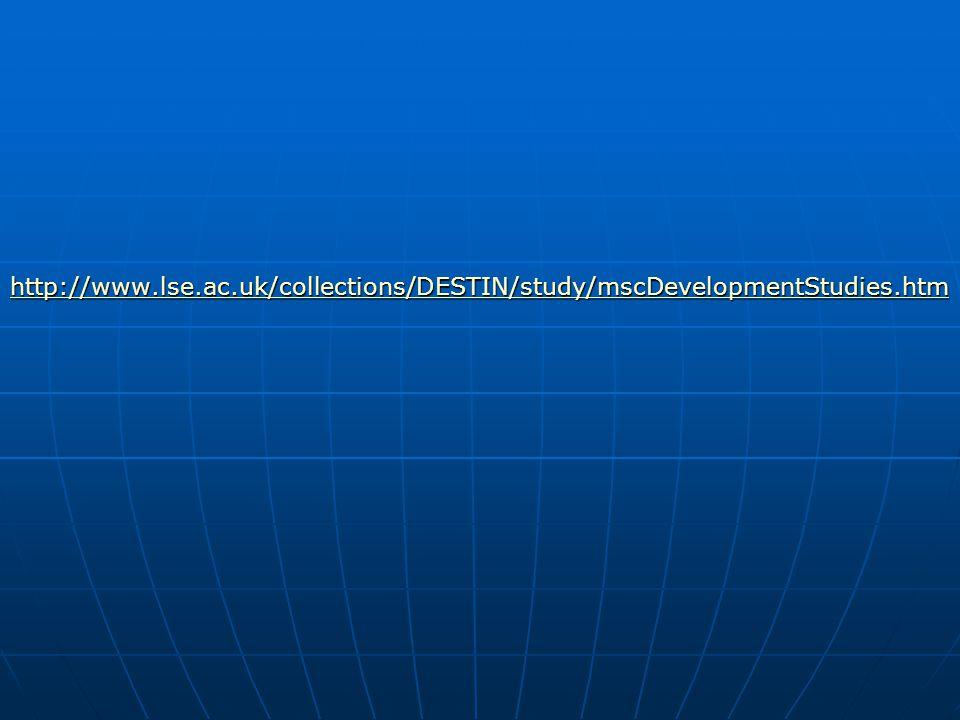Development Studies Definição:  Estudo das problemáticas que atingem os países menos desenvolvidos.