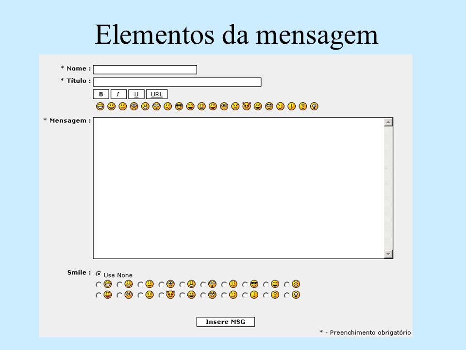 Elementos da mensagem