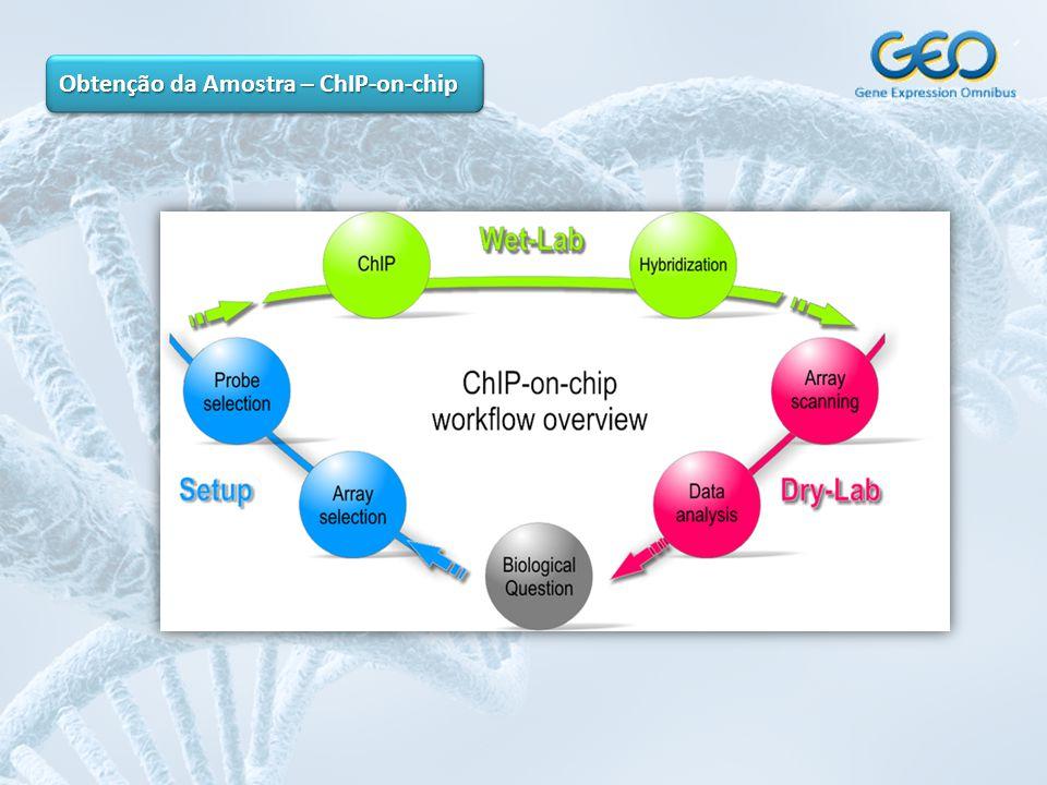Obtenção da Amostra – ChIP-on-chip