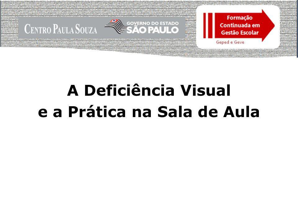 A Deficiência Visual e a Prática na Sala de Aula