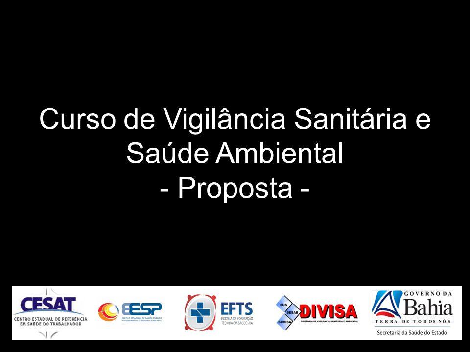 Curso de Vigilância Sanitária e Saúde Ambiental - Proposta -